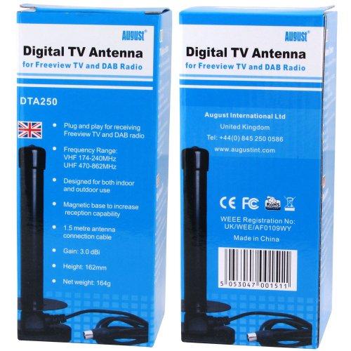 August DTA250 – DVB-T/DVB-T2/DAB+ Antenne - 2