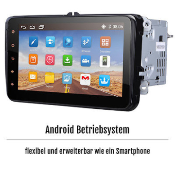 8'' HD Touchscreen Bluetooth DVD GPS Navigation Autoradio DAB für VW Seat Skoda