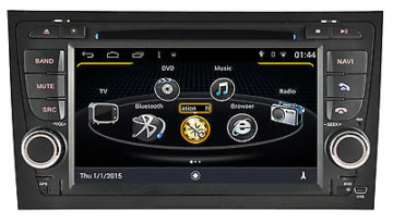 AUTORADIO DVD/GPS/NAVI/BLUETOOTH/DAB+/RADIOANDROID 4.4.4 Player AUDI A4 M050