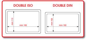 Doppel DIN und Doppel ISO