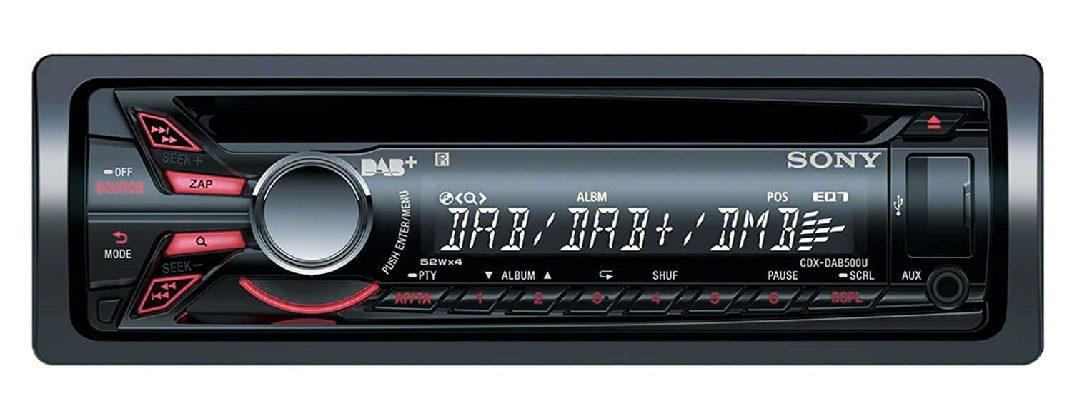sony dab autoradio cdx dab500a digitalradio. Black Bedroom Furniture Sets. Home Design Ideas