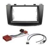 Autoradio Radioblende Set für Mazda 3 BL ab 2009 Doppel DIN Blende Adapter Kabel
